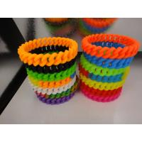 Best selling silicone braided bracelet,Twist silicone wristband with factory price