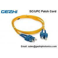 Buy cheap 3D Passed Optical Fiber Patch Cables SC / UPC - SC / UPC single mode jumper cord from wholesalers