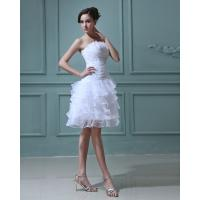 China Slim girls puffy Bridesmaids Wedding Dresses with Open back , white wholesale