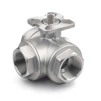 "China 1/4 "" - 4"" 3-Way Ball Stainless Steel Valves With High Mounting Pad ISO 5211 wholesale"