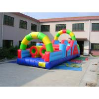 China 0.55mm PVC Tarpaulin Inflatable Amusement Park Bounce House Combo Commercial Grade wholesale