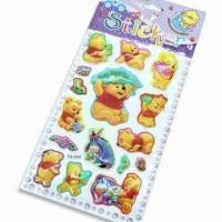 China Foam and PVC Stickers with Glitter Gold Power, Customized Designs are Accepted wholesale