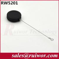 China 82 Cm Length Retractable Steel Cable Security Tether With Ring Terminal wholesale