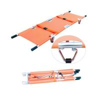 China Stainless Steel Frame High load bearing PVC Folding Stretcher on sale