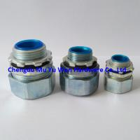 China 20mm ISO metric thread liquid tight zinc die cast straight fittings with sealing washers and lock nuts on sale