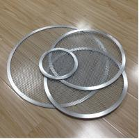 China Aluminum Expanded Mesh Wire Pizza Baking Tray , Metal Pizza Net 6-20 Inch Customized on sale