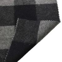 China 5.5cm Checked Fake Tartan Wool Fabric / Melton Wool Fabric For Fashion Coat wholesale