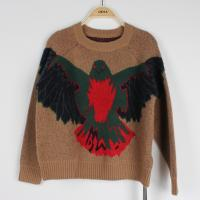 China Anti-pilling Jacquard Sweaters For Young Ladies Knitted Eagle Pattern Loose Pullover wholesale