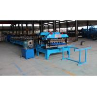 China 0.3 - 0.6mm Spanish Tile Roll Forming Machine 20 M / Min Chain Drive Roll Form Machine wholesale
