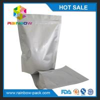 China Free sample aluminum foil stand up ziplock bag for food storage packaging wholesale