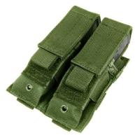 China Tactical Double Pistol Mag Pouch 2 Pistol Mags With Hook Loop Flap on sale