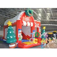 China Snowman Christmas Inflatable Jumping Castle Childrens Bouncy Castle With Slide wholesale