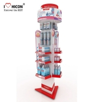 China Custom Electric Toothbrush Display Rack Cosmetic Shop Display Stand wholesale