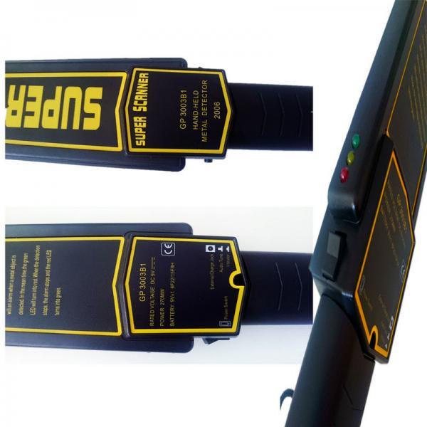 Popular handheld metal detector wand , security wand metal detector portable XST - GP3003B1