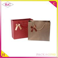 Buy cheap Manufacture and sale handle paper upscale cheaper wine gift shopping bag with from wholesalers