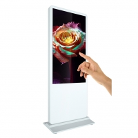 Quality 55inch floor stand ir touch screen advertising display mall kiosk photo booth machine for sale