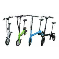Aluminum Alloy Smallest Folding Bike With Inflated Tyre / Comfortable Seat