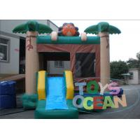 China Happy Hop Jumping Castle Carnival Inflatable Castle Bounce House Combo With Slide wholesale
