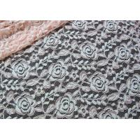 China Cotton Spandex Polyester Stretchy Lace Fabric With Mesh Knitted Flower Lace wholesale