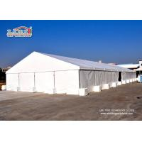 China White Exhibition Clear Span Tents 50 x 150 m , Glass Wedding Tent wholesale