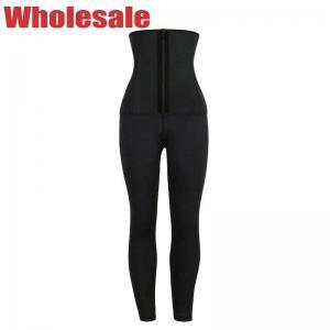 China Customized Ladies Black Shaping Yoga Leggings Without Waist Belts wholesale