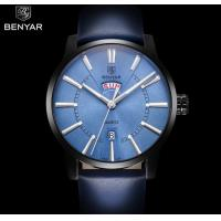 China BENYAR Men Genuine Leather Strap Simple Quartz Wrist Watches Casual 3 ATM Waterproof Men Watches BY-5101 wholesale