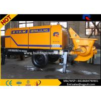 Quality Mini Electric Concrete Pump 4.5 tons Weight 0.6M3 Hopper Capacity for sale