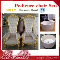 China high back wedding chairs king throne pedicure chair foot spa equipment furniture wholesale