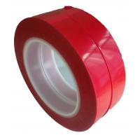 China 75um Thickness 55M Film Splicing Tape Red  Base Material For Label Printing wholesale