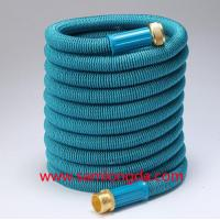 China 2017 Expandable Garden hose,50FT Best garden hose with brass quick coupling, green color expanding water hose on sale