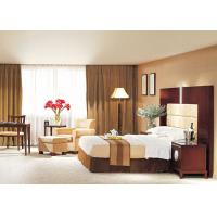Hotel Style Bedroom Furniture Beige Leather Chair With