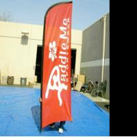 Quality Aluminum cross beach falg base , double sided feather flags , printed feather for sale