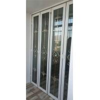 China 60 series folding doors retractable screen door bifold door aluminum folding door long life span provide many colors wholesale