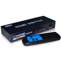 China 3 way HDMI Switch Box 3x1 port with remote control eKL-31h on sale