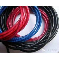 China 7x7 Nylon Coated Steel Cable Galvanized Fencing Hoisting Mining Cableway wholesale