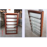 Quality Glass Vertical Louvered Window Shutters Interior Double Toughened Glazing for sale