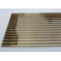 China Color Bronze 6mm / 8mm Double Wall Polycarbonate Greenhouse Panels Multi Purpose wholesale