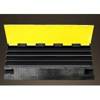 China Outdoor Removable Speed Bumps 4 Channels With PVC Flap Yellow Safety Lid wholesale
