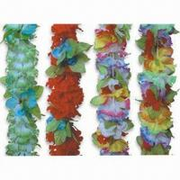 China Flower Leis for Parties with 90cm Size, Made of 100% Polyester wholesale