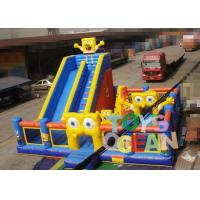 China High Durability Inflatable Spongebob Jumping Castle , Inflatable Amusement Park For Kids wholesale