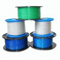 China Steel Wire Rope with PVC Coating, Available in Different Sizes wholesale