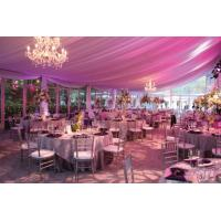 China 15m Span New Design Luxury Waterproof Pinnacle Glass Wall Tents For Party And Wedding wholesale