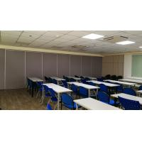 China Portable Soundproof Room Divider Aluminium Frame Auditorium Folding Partition Wall on sale