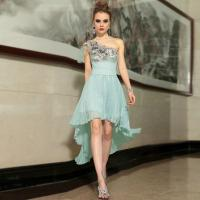 China Slim One Shoulder Short Cocktail Party Dresses for Gathering , prom wholesale