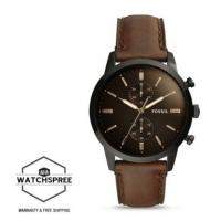 Buy cheap Wholesale Fossil Men's Townsman 44mm Chronograph Brown Leather Watch FS5437 from wholesalers
