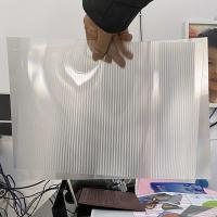 China 2021Hot sale 3D lenticular sheet clear PET Lenticular 75 lpi lens sheet 3D flip lenticular lens sheet wholesale
