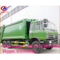 China hot sale best price dongfeng 4*2 LHD 18cbm compactor garbage truck. factory sale dongfeng 16m3 garbage compactor truck on sale