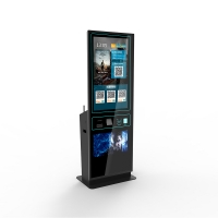"""Quality 42"""" touch screen ticket vending machine with ticket dispenser, ticket printer for sale"""