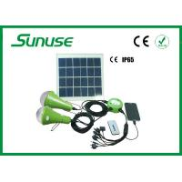 China 12W Solar Panel solar led home lighting system with Remote controller wholesale