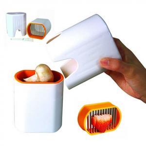 China Mini Plastic Vegetable Cutter Reusable , Egg Fruit And Vegetable Chopper wholesale